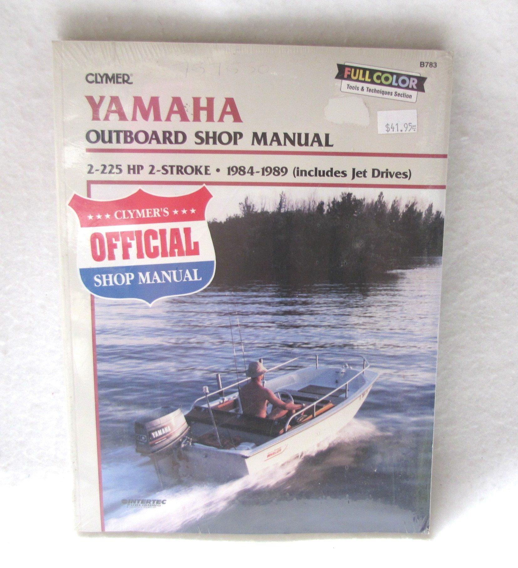Clymer repair manual yamaha 2 225hp 2 stroke outboards for Yamaha 90hp 2 stroke service manual