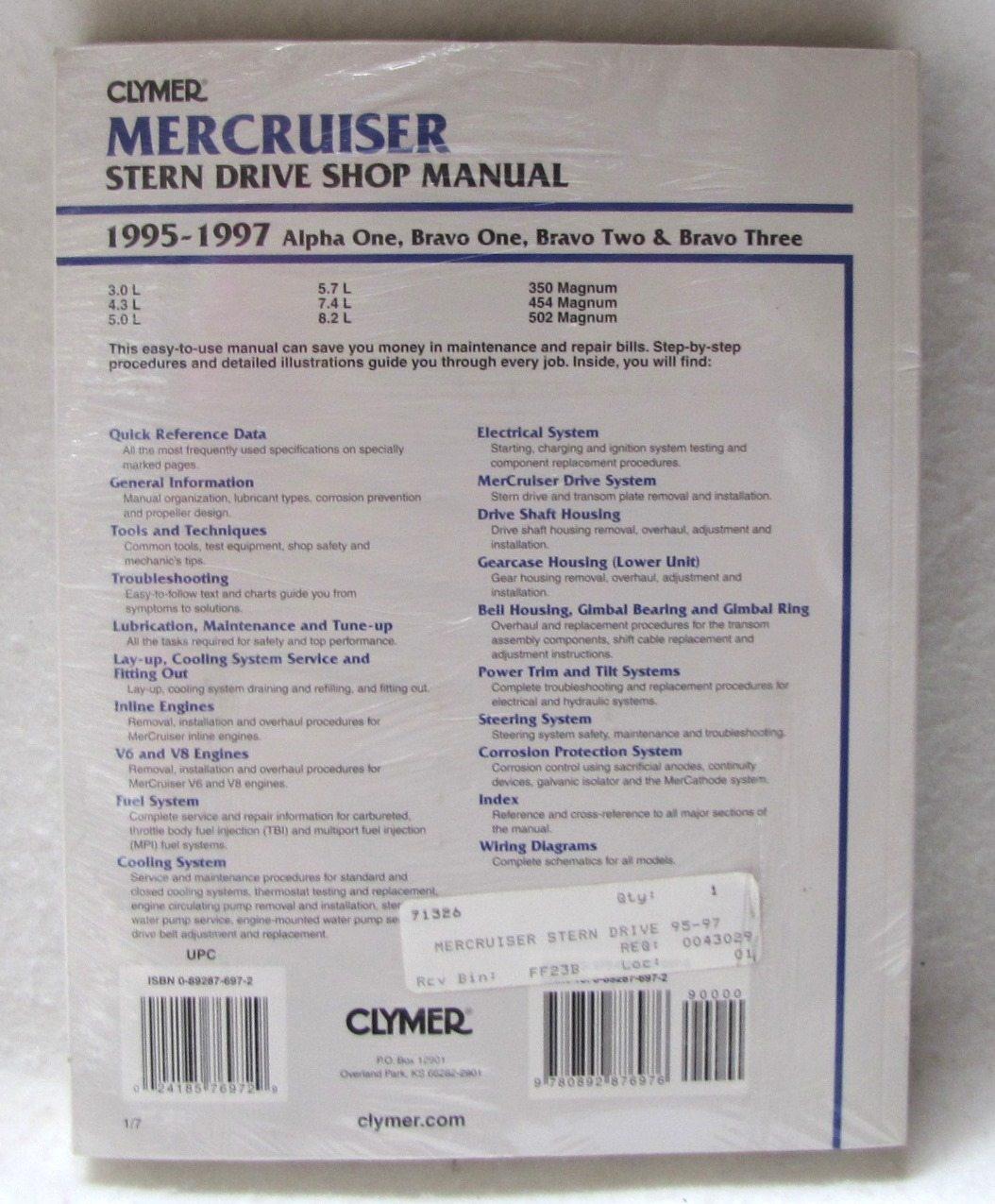 mercruiser alpha one repair manual