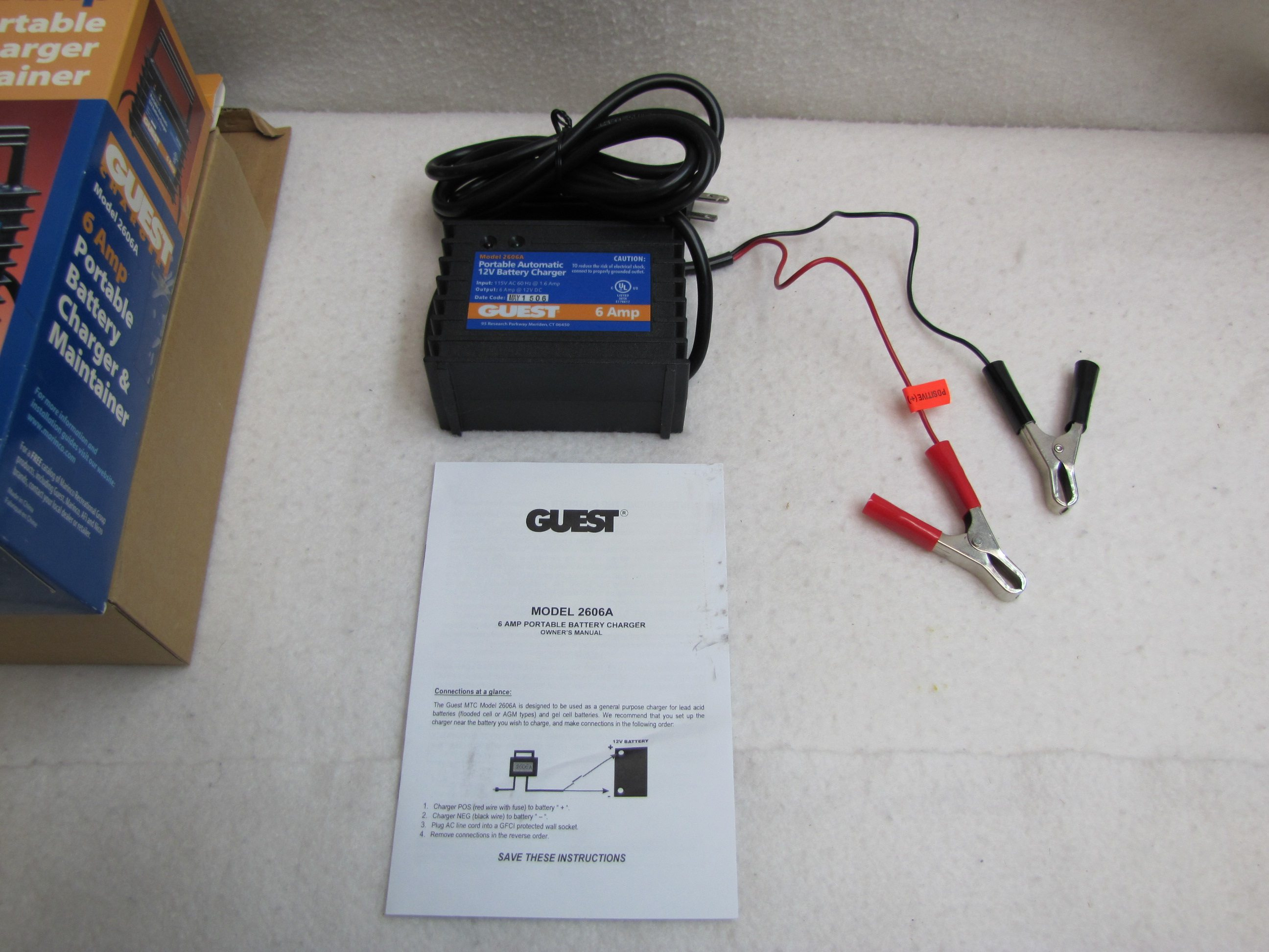 Guest Onboard Battery Charger Installation Diagram Wiring Maintainer 6 Amp Portable Marine Model 2606aguest