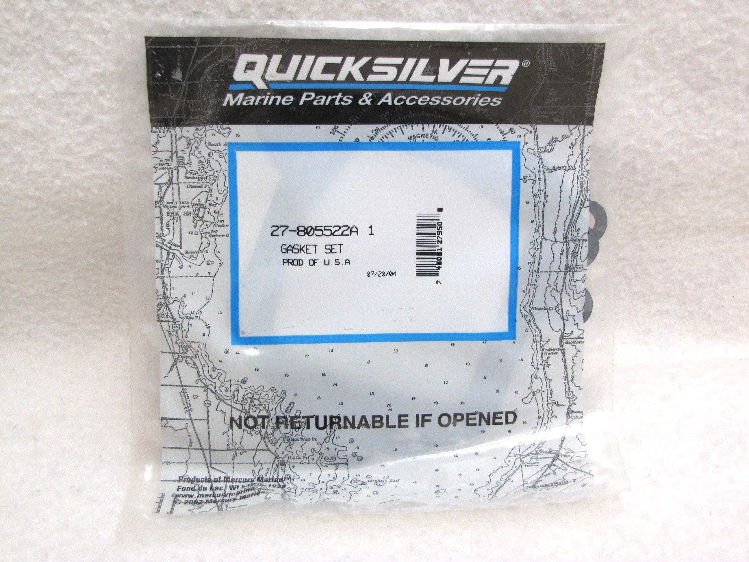New Mercury Mercruiser Quicksilver OEM Part # 27-805522A 1 GASKET SET