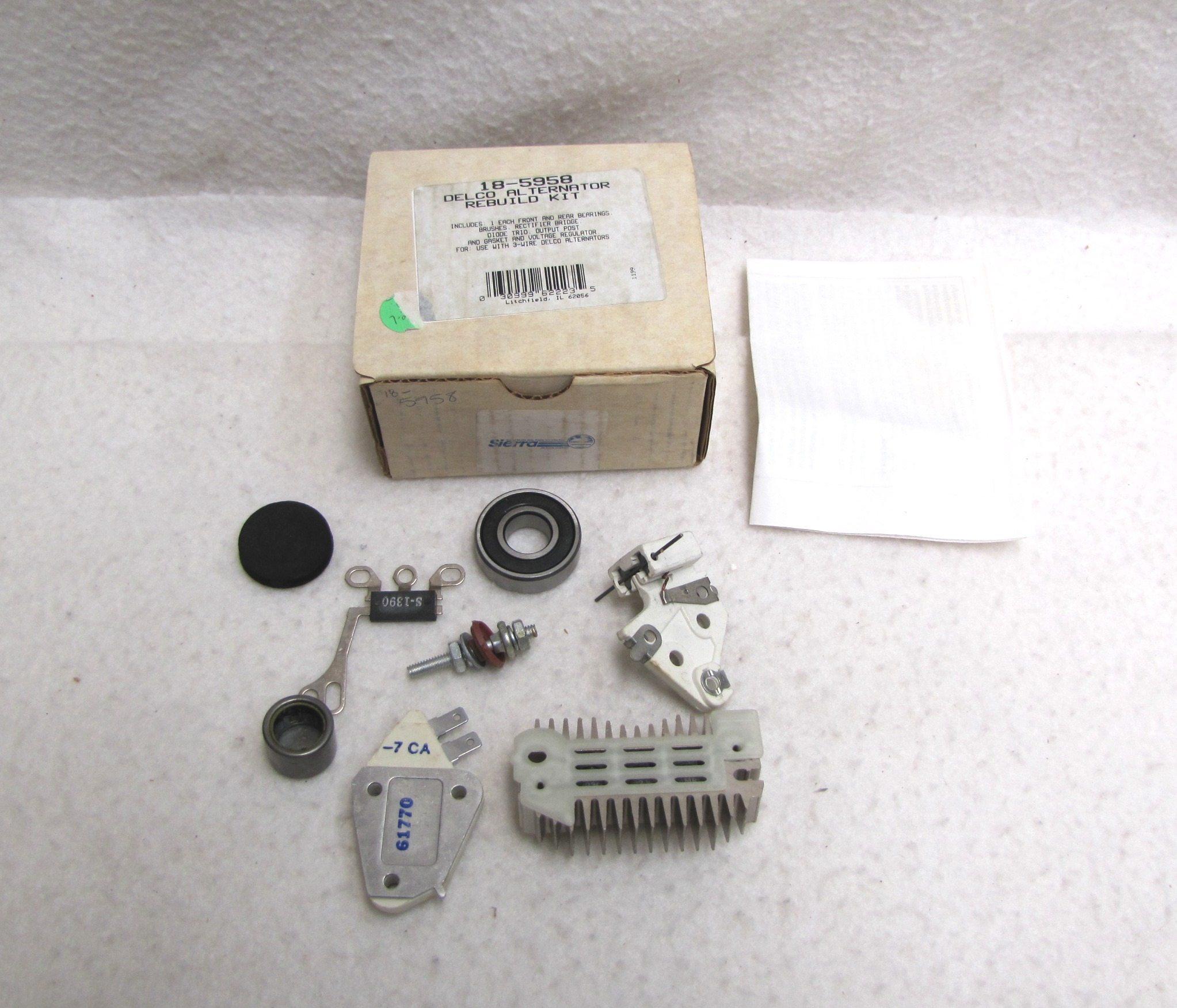 Sierra Marine 18-5958 Delco Alternator Rebuild Kit